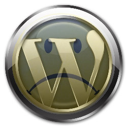 sad wordpress