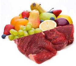 Obst/ Fleisch