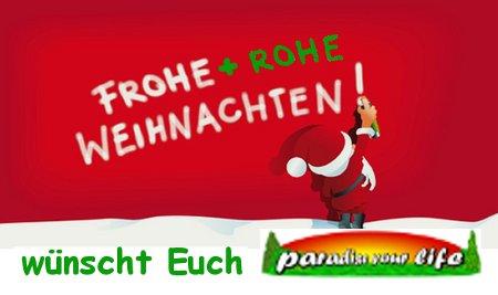 Frohe + rohe Weihnachten